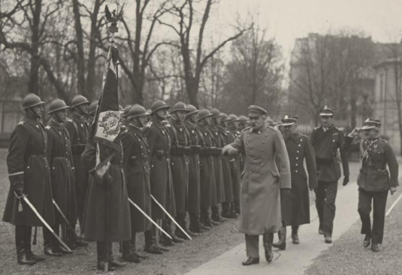 J. Piłsudski w Komorowie (NAC)