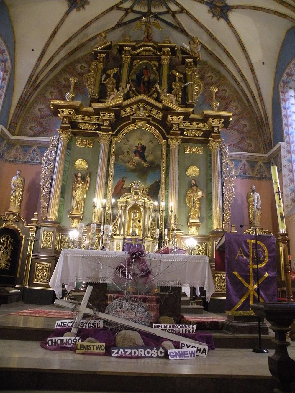 Kościół w Andrzejewie - ołtarz główny