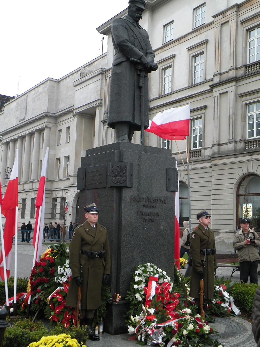 Warszawa. Pomnik Marszałka Piłsudskiego