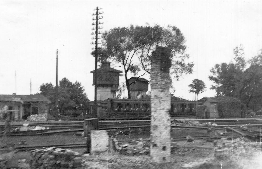 Stacja kolejowa w Małkini w 1939r.