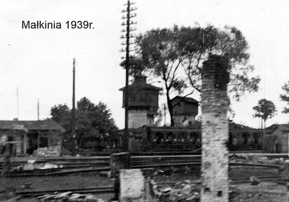 Dworzec w Małkini - 1939r.