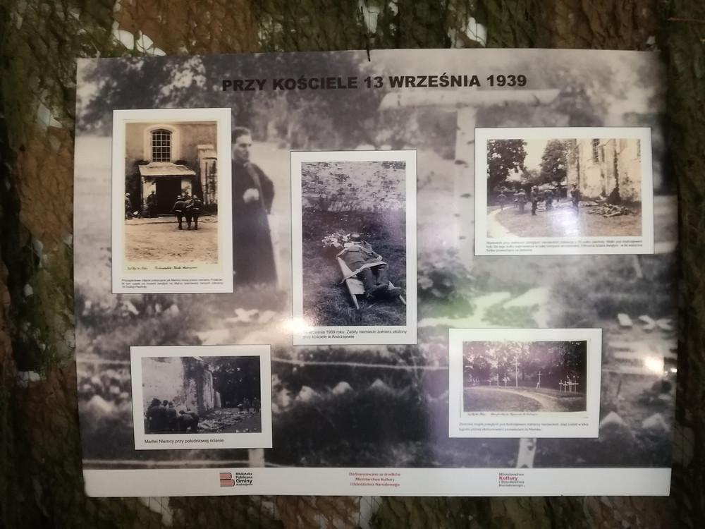 Tablica wystawowa w Andrzejewie