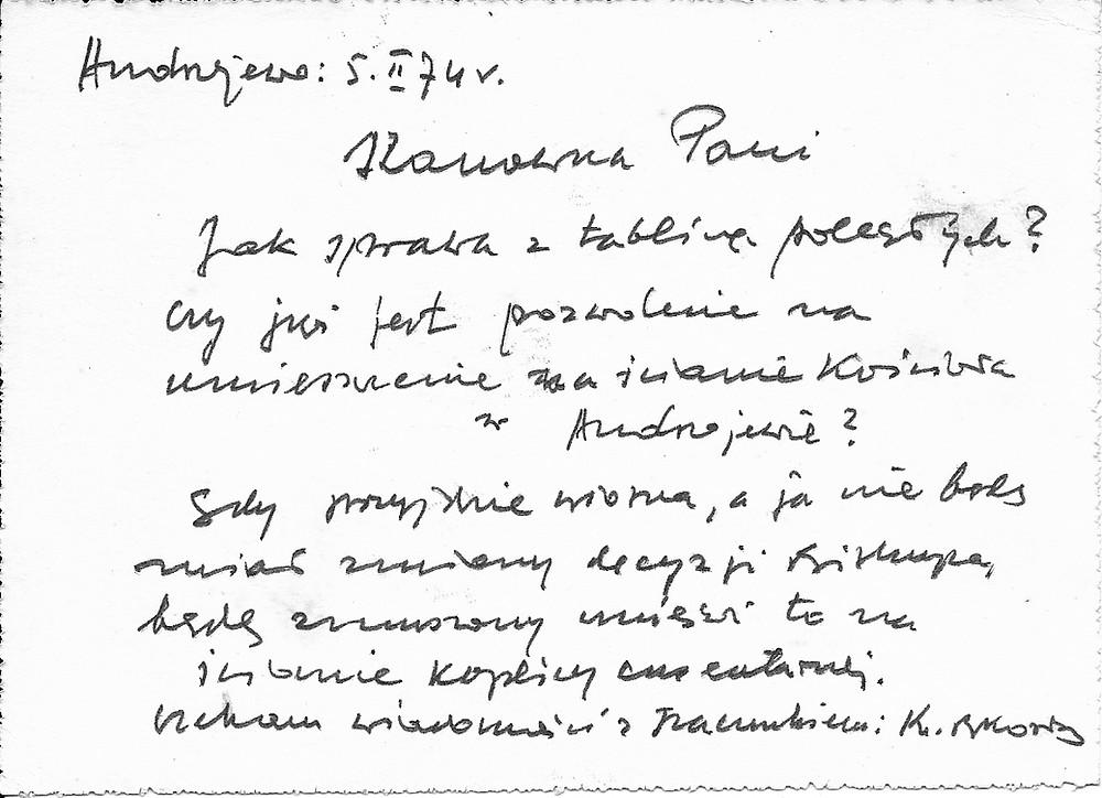 List ks. Kozłowskiego