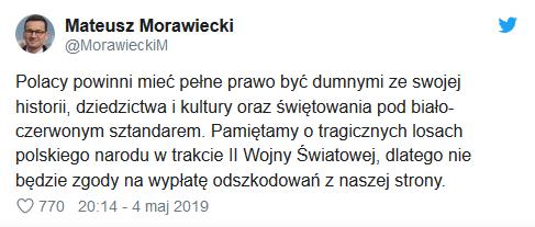 Morawiecki na Twitterze