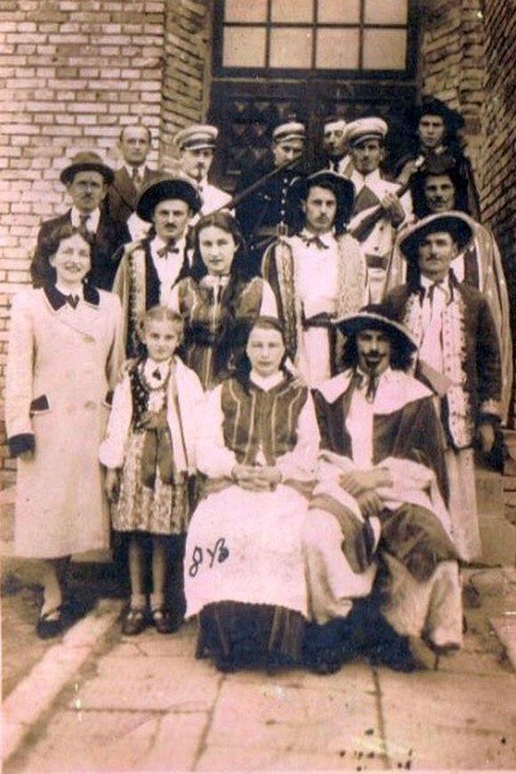 Członkowie Teatru Ludowego w latach 50-tych