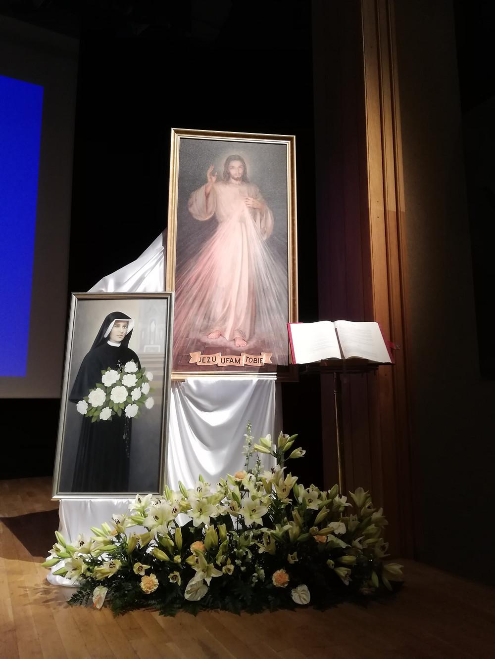 Obraz św. Faustyny i Jezusa Miłosiernego. Kraków