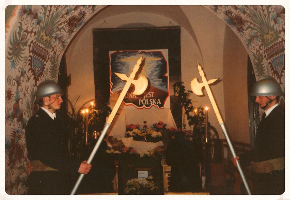 Straż w kościele andrzejewskim