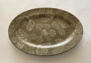 Large Serving Platter slip and sgraffito decoration