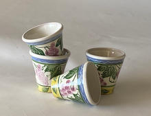 Grape Tumblers maiolica overglaze decoration pieces priced individually