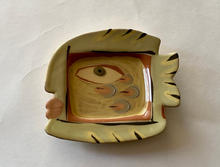 Fish Plaque underglaze slips with transparent honey glaze