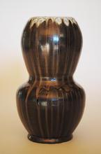 Vase porcelain with ash rivulets