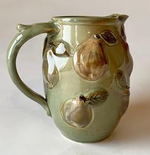 Pearware Jug celadon glaze with overglaze decoration