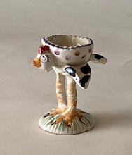 Chick Egg Cup maiolica overglaze decoration