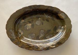 Pear Celadon Serving Platter