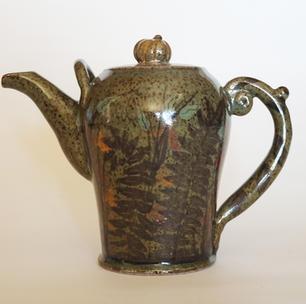 Fern Tea Pot celadon glaze