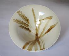 Wheat Bowl small porcelain bowl with overglaze decoration