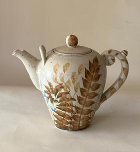 Fern Tea Pot stoney glaze