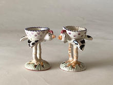 Chick Egg Cups maiolica overglaze decoration