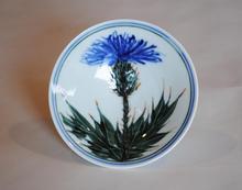 Small Thistle Bowl porcelain with overglaze decoration