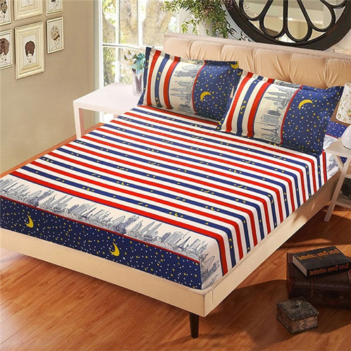 21259a8a67 ... Pillowcase Blue Flower Printed Bed Linen Queen Size Mattress Cove. SKU:  JY-CK2017. $ 41.99. Please noted the fitted sheet is for the mattress that  the ...
