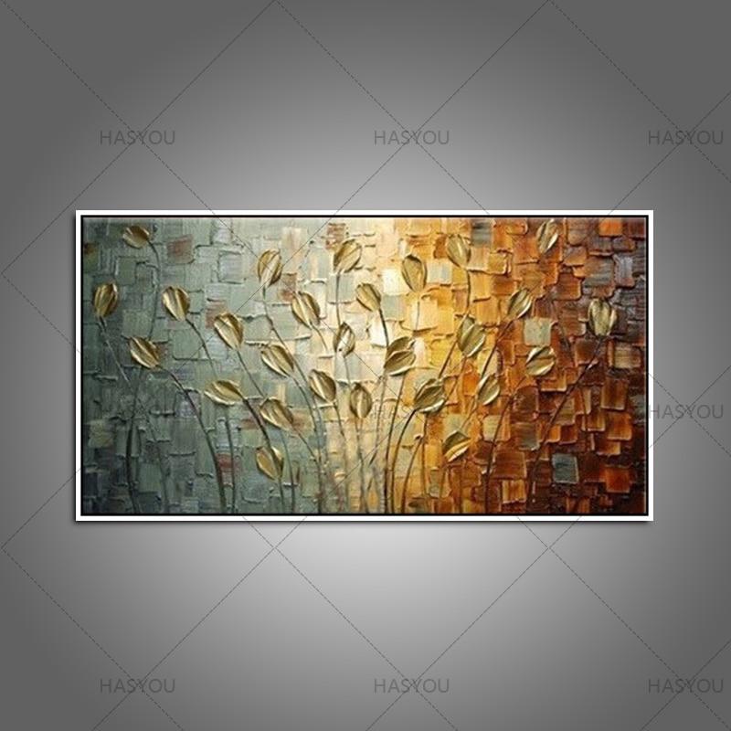 Golden Fall Hand Painted Oil Canvas Art