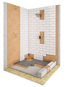 "38""x38"" Center Kerdi Shower Kit"