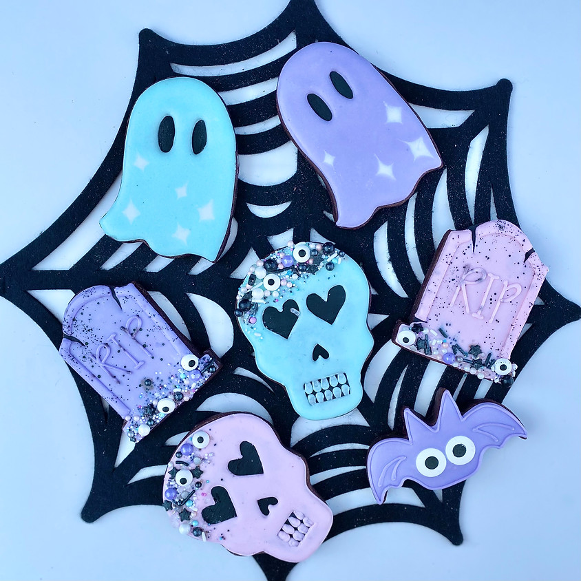 """Pastel Graveyard"" Halloween DIY Cookie Decorating Kit"