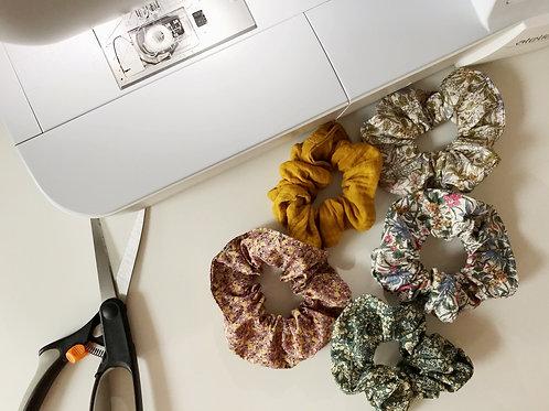 Handmade Floral Scrunchie