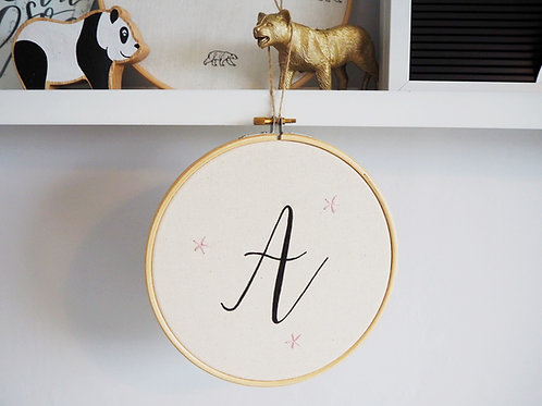 Personalised Embroidery Hoop with name or letter - 7 inches