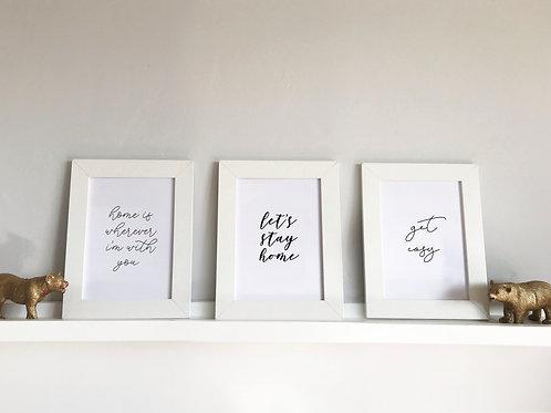 Set of 3 A5 Prints - Home