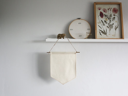 CUSTOM Small Canvas Wall Hanging Fabric Banner Sign
