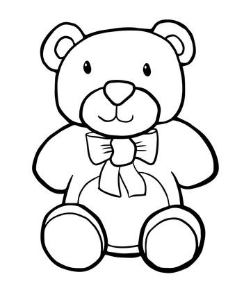 Colour in a Teddy Bear