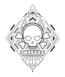 T-shirt print Skully Gin x Scalpers