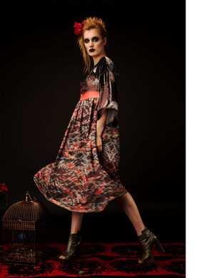 Printed Couture Dress
