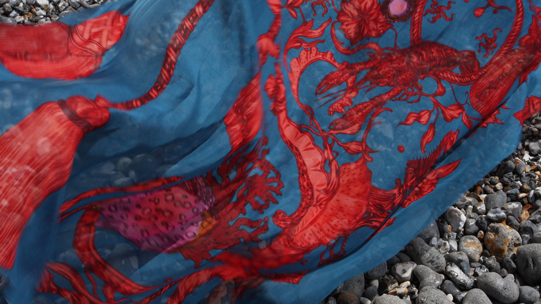 Marine Baroque-Red and Blue