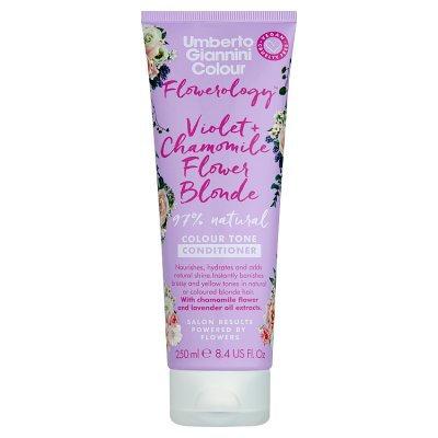 Flowerology Violet + Chamomile Flower Vegan Blonde Conditioner