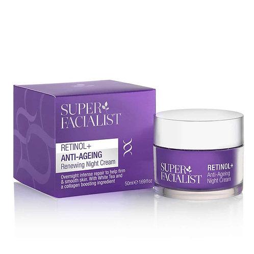 Retinol+ Anti-Ageing Night Cream, Κρέμα Νυκτός Αντιγηραντικής Θεραπείας με Ρετιν