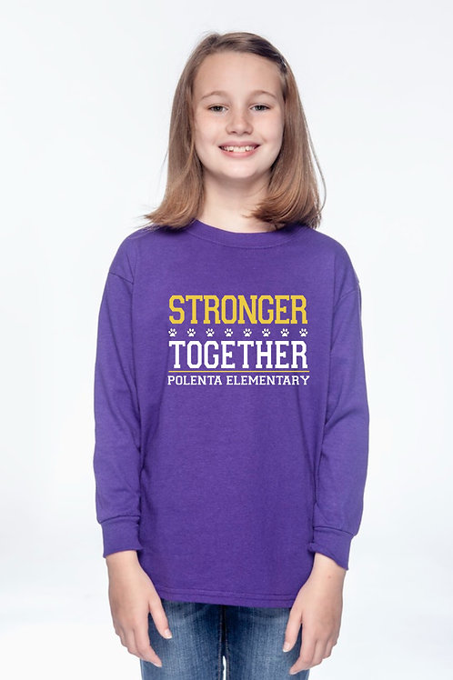 Long Sleeve Youth Stronger Together Purple