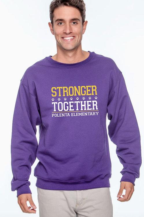 Sweatshirt Adult Stronger Together Purple