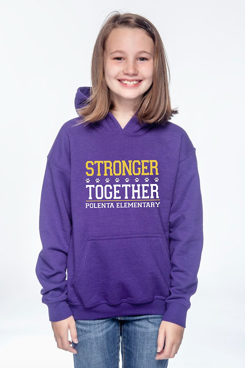 Hoodie Youth Stronger Together Purple