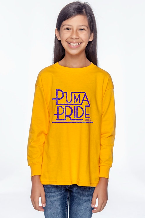 Long Sleeve Youth Puma Pride Yellow