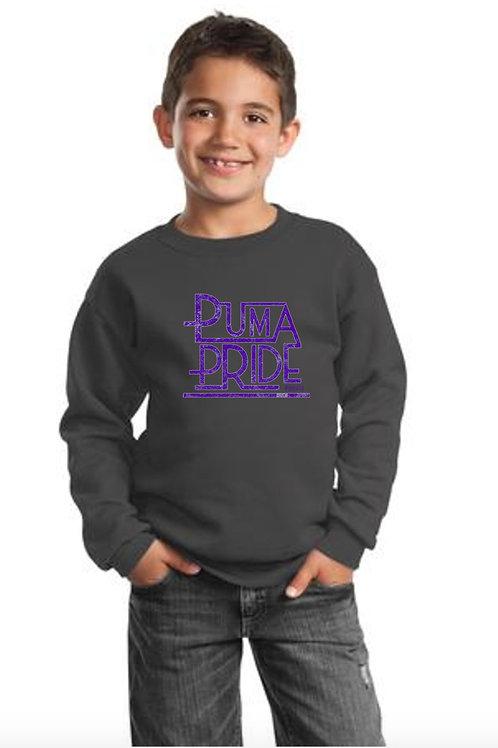 Sweatshirt Youth Puma Pride Dk Gray