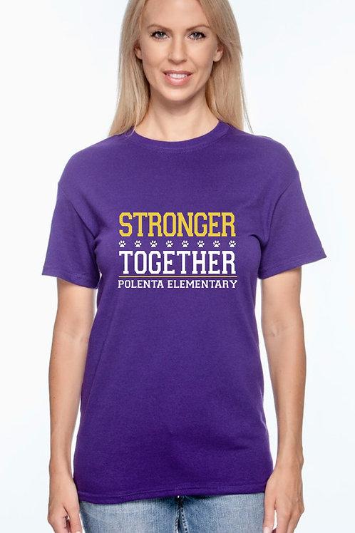 Short Sleeve Adult Stronger Together Purple