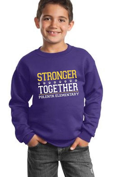 Sweatshirt Youth Stronger Together Purple