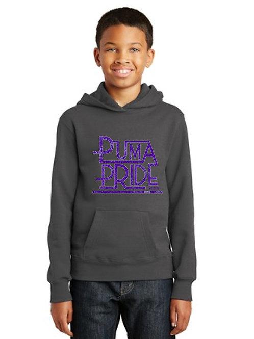 Hoodie Youth Puma Pride Dk Gray