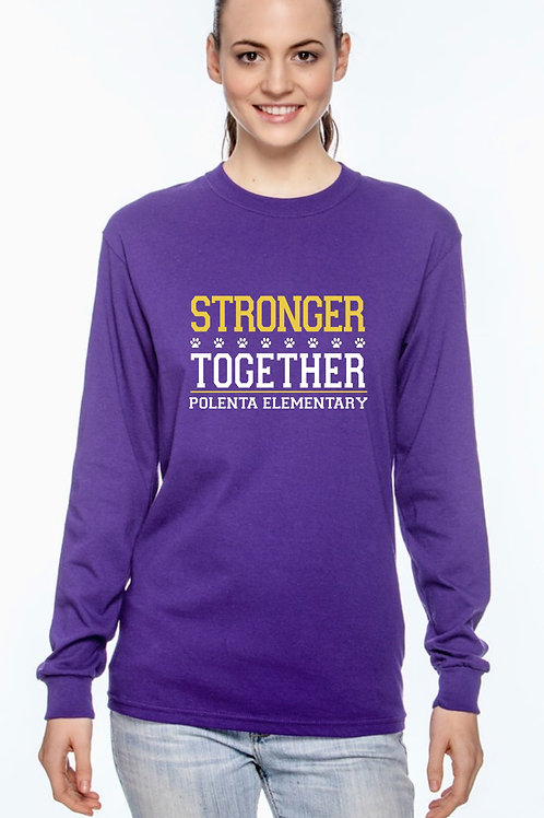 Long Sleeve Adult Stronger Together Purple