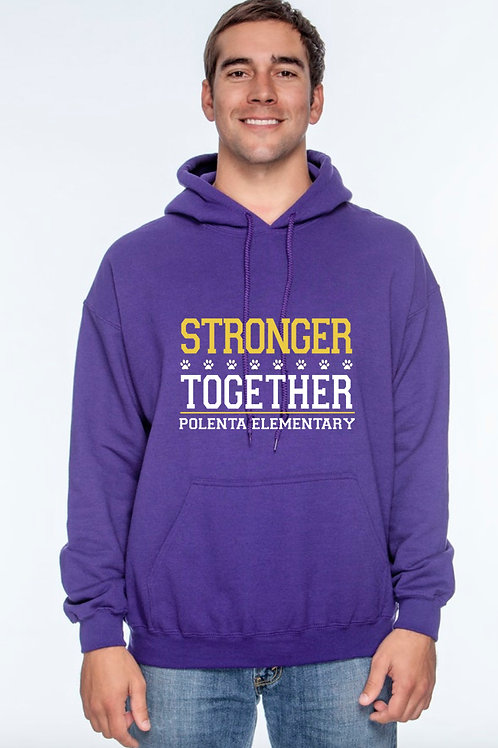 Hoodie Adult Stronger Together Purple
