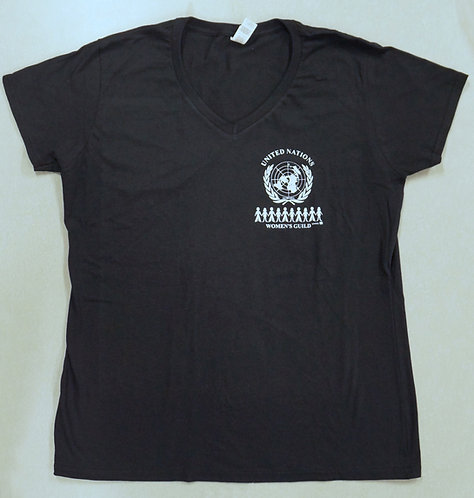 Women's t-shirt V-neck black