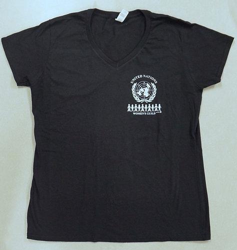 Women's t-shirt V-neck black