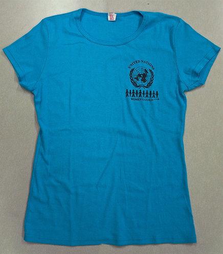 Women's t-shirt Scoop neck sapphire blue